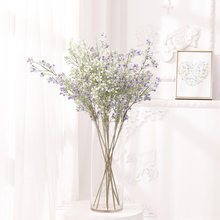 Artificial Flower Gypsophila Pe Plastic Plant For Wedding Birthday Gift Teacher 's Day Home Office Party Decoration Furnishing(China)