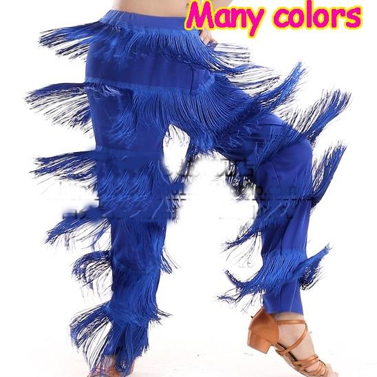 New Arrival Cheap Women Ladies Girls Fringe Latin Dance Pants Jazz Samba Fringe Dance Pants