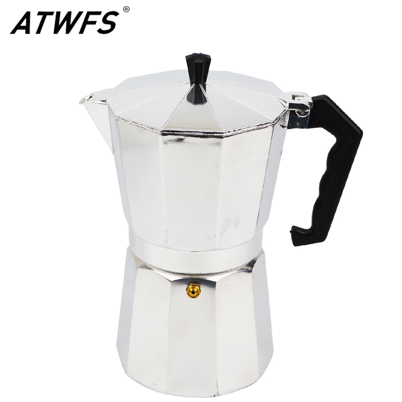 ATWFS Newest 3/6/9/12 Cup Espresso Coffee Pots Aluminum Moka Pot Coffee Maker Moka Espresso Cup ...