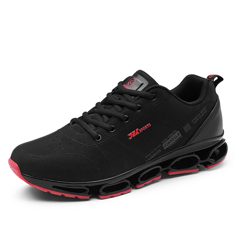 Outdoor Sneakers Men Casual Running Shoes Fashion Breathable Lightweight Fashion Men black and white Sport Lifestyle Shoes in Running Shoes from Sports Entertainment