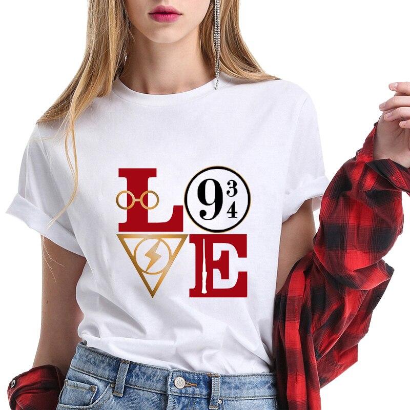 Harri Potter   T     Shirt   Harajuku   T  -  shirt   Fashion Ulzzang Clothes Kawaii Femme   T     Shirts   Plus Size Streetwear   Shirt   Tops Tee Unisex