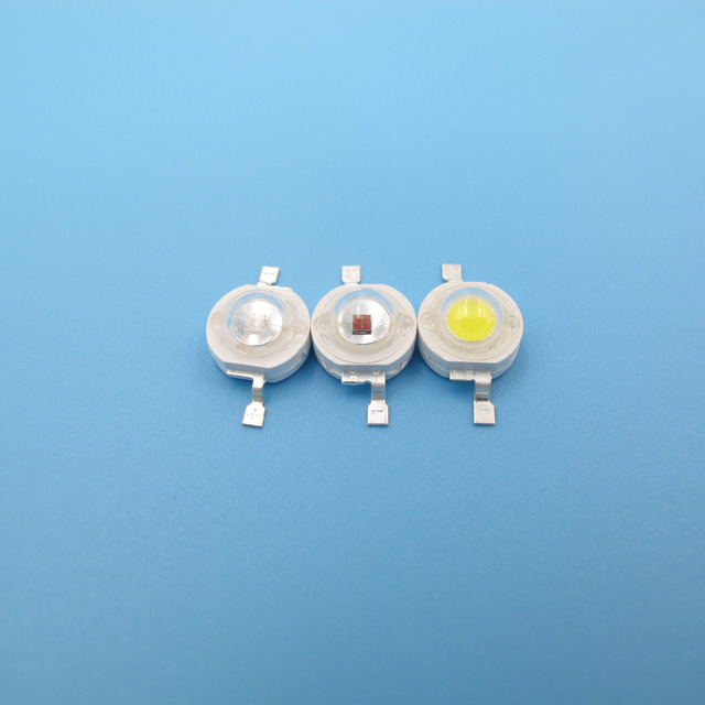 10pcs Full power LED Bulb Chip 1W 3W COB SMD LED with Epistar 33x33mil / Epileds 45x45mil chip 2 Gold Wires Multi Color