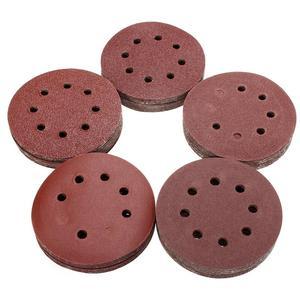 Image 3 - Disques abrasifs, forme ronde, à grain 125mm, feuille abrasive, 8 trous, tampon abrasif 80/180/240/320/1000/1500/2000, 10 pièces