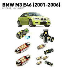 цены Led interior lights For BMW m3 e46 2001-2006  14pc Led Lights For Cars lighting kit automotive bulbs Canbus Error Free