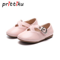 Baby Toddler Girl PU Leather Princess Flats Little Kid Black PInk White Cross Strap Mary Jane