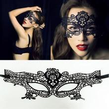 1 шт. кружевная маска сексуальная Женская Черная кружевная маска открытая Женщина-кошка, Бэтмен вуаль Хэллоуин Маскарад