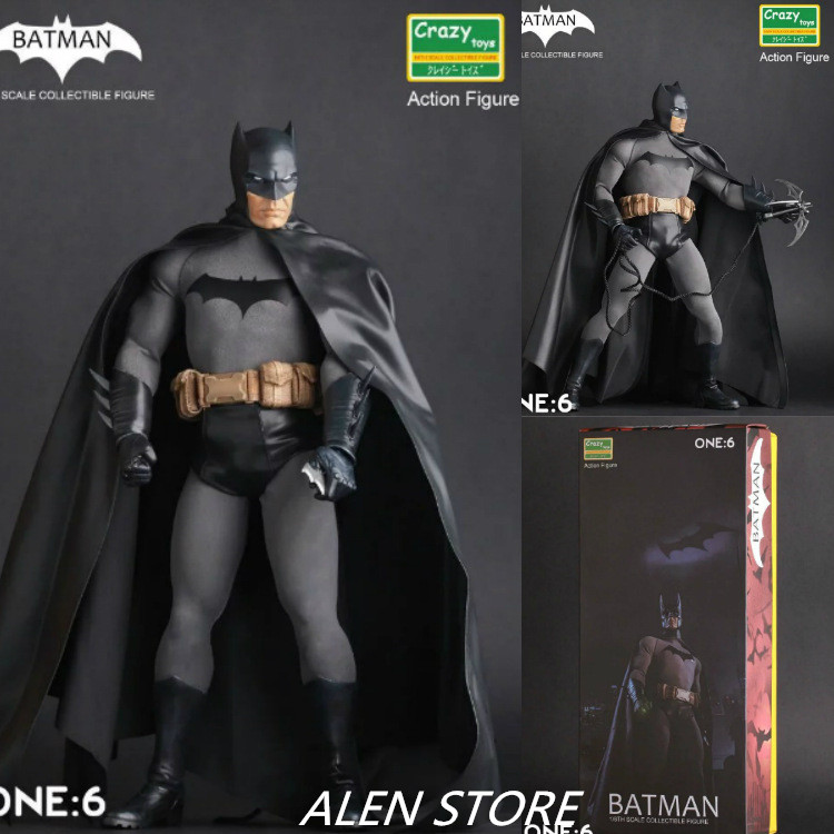 ALEN DC Comics Justice League Crazy Toys Batman Superman : Dawn of Justice America Action Figure Toys 30cm PVC Collection Model xinduplan dc comics play arts kai justice league batman reloading dawn justice action figure toys 25cm collection model 0637