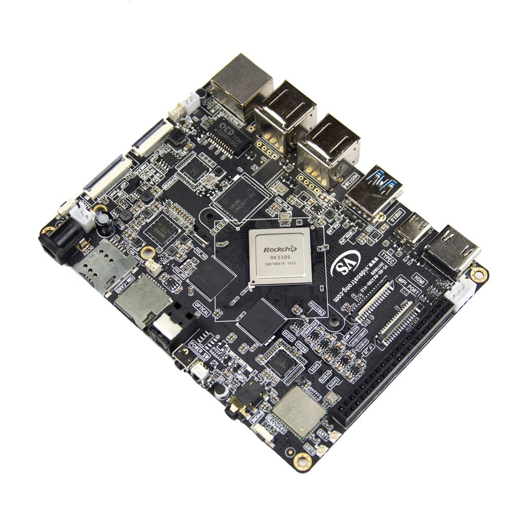 MECOOL VS - RK3399 DIY RK3399 Mali-T860 TV Box Set-top Boxes Super Development Board 4K 10Bit VP9 Android 7.1 Bluetooth 4.1