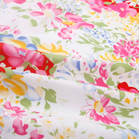 1 Meter Patchwork Flowers Plants Diy Safflower Print Cotton Fabric For Clothing Dress