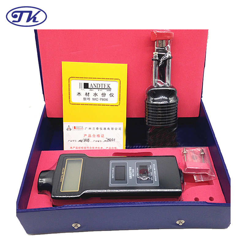 Portable Pin Type Wood Moisture Meter MC7806 mc 7806 wood moisture meter detector tester thermometer paper 50% wood to soil pin