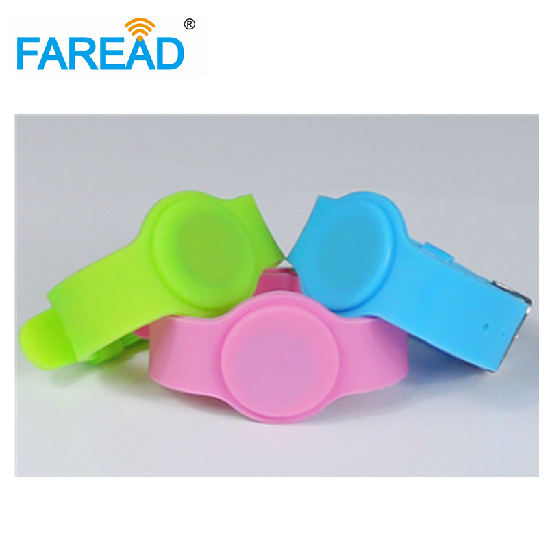 X100pcs Free Shipping  RFID Wristband  For Swimming Pool Sauna Room GYM 13.56mhz Ntag203