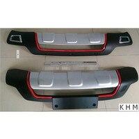 For KIA SORENTO 2013 2015 REAR GUARD SPORT TYPE BUMPER PROTECTER ,car styling