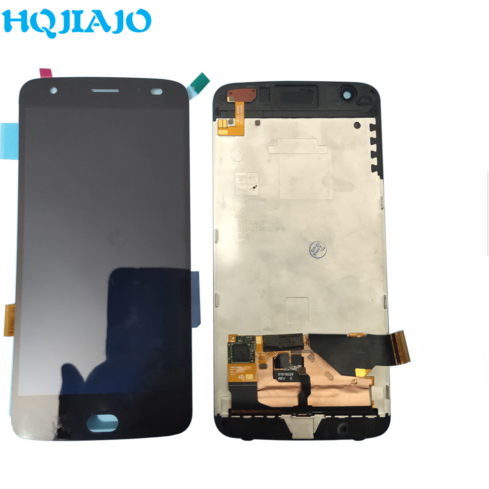 LCD Screen For Motorola Moto Z2 Forc LCD Display Touch Screen Digitizer Frame For Moto Z2