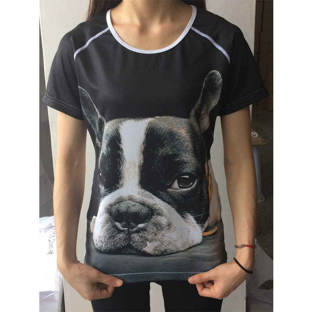 Noisydesigns Cute Puppies Print Short Sleeve Women T Shirt Fashion Breathable Tops Tee Shirt for Female Riverdale Fitness Shirt