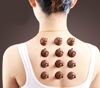 100 pcs Self adhesive moxibustion acupuncture massage meridians moxa tube sticker