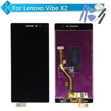Für lenovo vibe x2 lcd display touch digitizer-bildschirm montage schwarz + werkzeuge