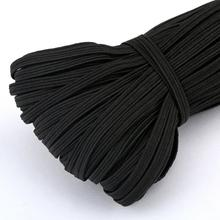 5 meters/lot 3/6/9/10/12MM White/black Nylon Highest Elastic Bands Garment Trousers Sewing Accessories DIY