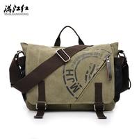 MANJIANGHONG Canvas Men Bags Korean Multi functional Man Bag Business Men Canvas Shoulder Bag Fashion Leisure Messenger Bag