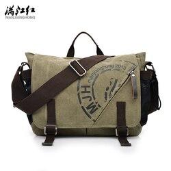 MANJIANGHONG/мужские холщовые сумки 2018 года, Корейская многофункциональная холщовая деловая Мужская Холщовая Сумка на плечо, модная сумка для от...