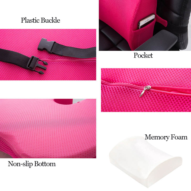 Car Seat Cushion Mat Coccyx Orthopedic Memory Foam Chair Massage Mat Back Cushion Pad Office Nap Car Seat Cushion Mat Coccyx Orthopedic Memory Foam Chair Massage Mat Back Cushion Pad Office Nap Therapy Callipygian Cushion