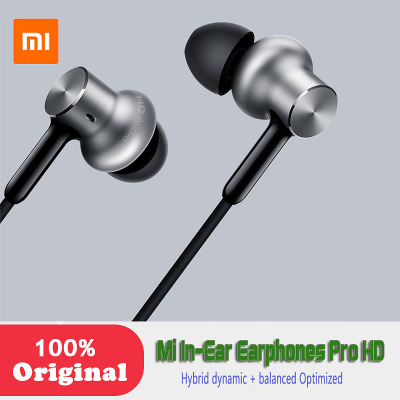 Newest Xiaomi Original In-Ear Earphones Pro HD Hybrid dynamic + balanced Optimized sound quality Circle Iron Dual Drivers xiaomi hybrid dual drivers earphones 2 black