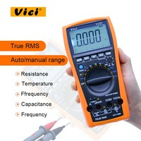 VICI VC87 Digital Multimeter True RMSAC DC Voltmeter 6000 Counts with temperature test and LCD backlight display