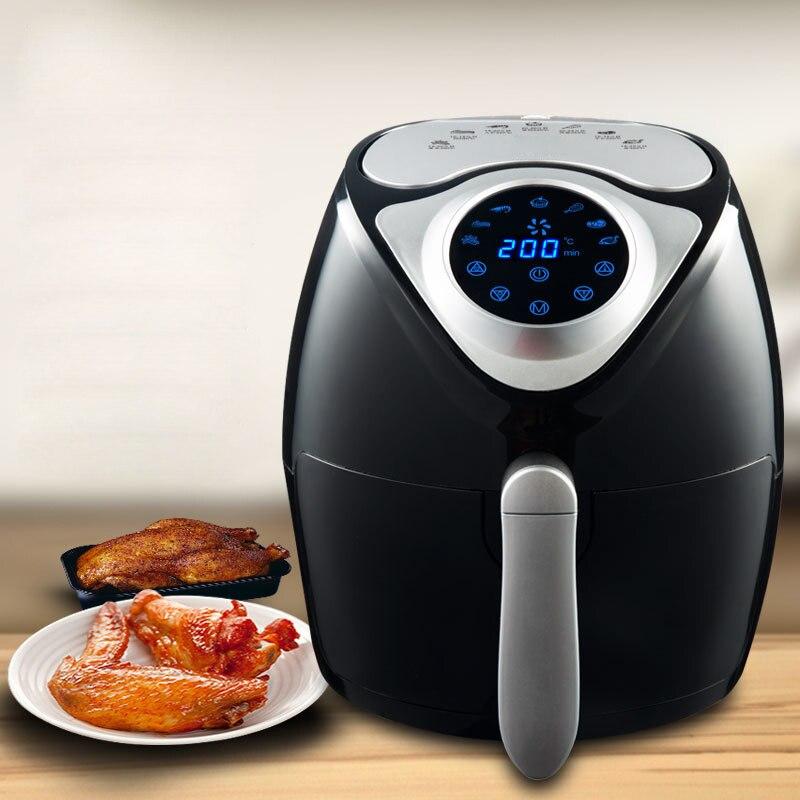 Friteuse électrique sans huile intelligente de Fritadeira Eletrica de friteuse de 110 V/220 V 2.6L frites de Machine de gâteau de fabricant de viande de boeuf friteuse d'air