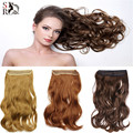 1PC Wavy Halo Hair Extensions 20inch 50cm M01 Hairpiece Hair Pieces Accessories Natural Synthetic Flip Hair Extension