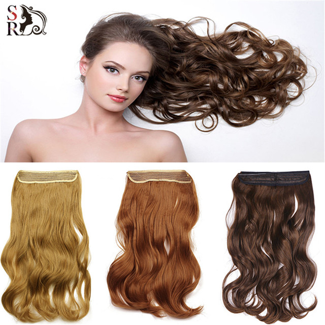 1pc Wavy Halo Hair Extensions 20inch 50cm M01 Hairpiece Hair Pieces