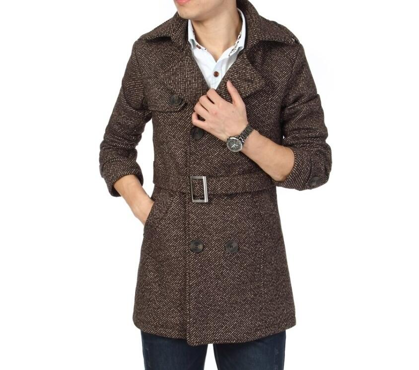 Online Shop 2016 New Arrival Winter Men Peacoat Coat Casual Double ...