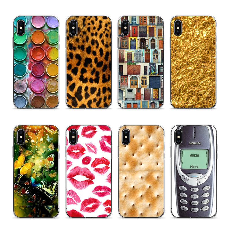 For iphone cases 7plus Tiger Leopard Print Panther Photo Covers Case For iphone X XS XR XSMAX 6 6S 8 8PLUS 7 Transparent Egde in Half wrapped Cases from Cellphones Telecommunications