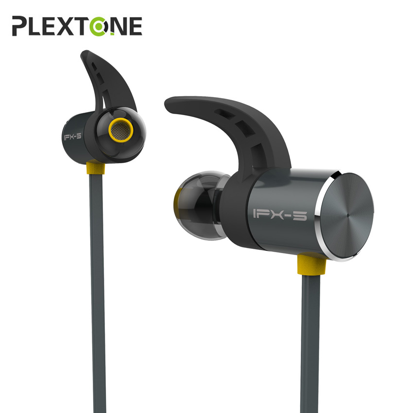 Plextone BX343 Magnetic Bluetooth Earphone IPX5 Waterproof Sport Wireless Earbuds In-ear Headset Handsfree with Mic for Phone egrincy x11 mini bluetooth car earphone wireless handsfree in ear headsets usb magnetic charging with usb socket mic for iphone