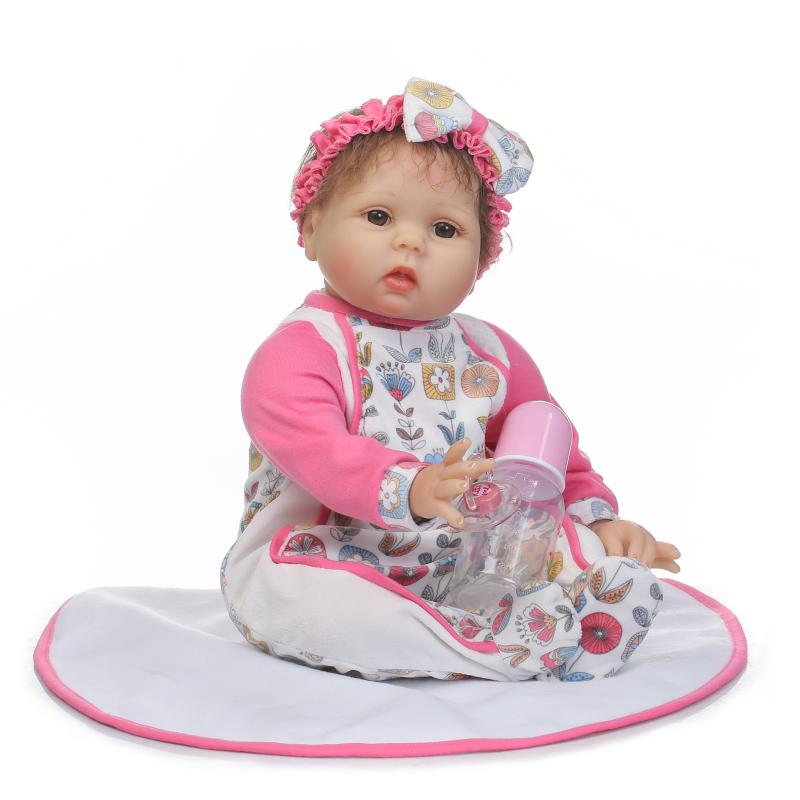 55cm Soft Cotton Body Sumilation Baby Girl for Kids Bedtime Playmates Doll Silicone Baby Reborn Doll Birthday Christmas Gift55cm Soft Cotton Body Sumilation Baby Girl for Kids Bedtime Playmates Doll Silicone Baby Reborn Doll Birthday Christmas Gift