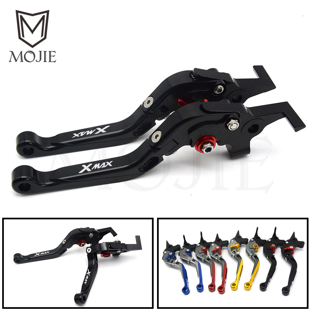 For YAMAHA X-MAX XMAX X MAX 125 250 400 CNC Motorcycle Levers Set Adjustable Folding Extendable XMAX 125 250 Brake Clutch Levers red black cnc adjustable folding extendable motorcycle brake clutch levers for ducati 620 monster 620 mts 2003 2004 2005 2006