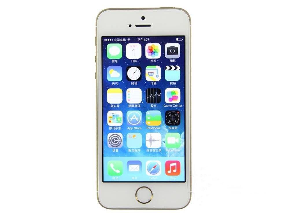 Unlocked Original iPhone 5S with IOS Fingerprint 8MP Camera GPS GPRS Bluetooth WIFI Multi Language LTE
