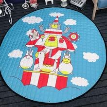 Площадка Мат Диаметр 150 см Круглый Carpet для Ребенка уникальный Подарок Игрушки Для Хранения Сумки