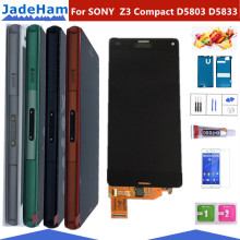 ORIGINAL 4.6 LCD For SONY Xperia Z3 Compact Display Touch Screen with Frame Z3 Mini D5803 D5833 For SONY Xperia Z3 compact LCD jieyer 4 6inch z3 compact lcd black for sony xperia z3 compact d5803 d5833 lcd display touch screen digitizer assembly parts