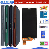 ORIGINAL 4.6 LCD For SONY Xperia Z3 Compact Display Touch Screen with Frame Z3 Mini D5803 D5833 For SONY Xperia Z3 compact LCD