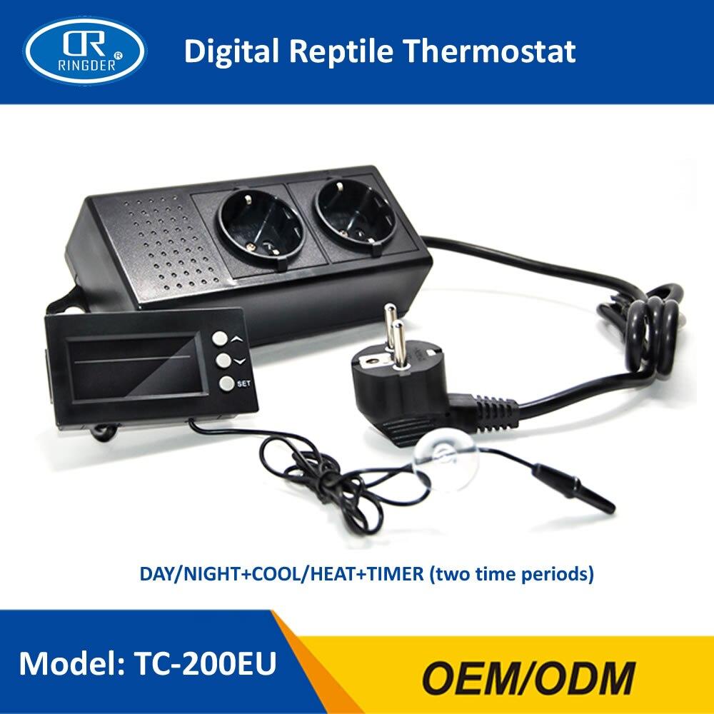 RINGDER TC-200 0-50C Jour/nuit SUR OFF Numérique Reptile Thermostat avec Minuterie Régulateur Animaux Amphibien Régulateur De Température