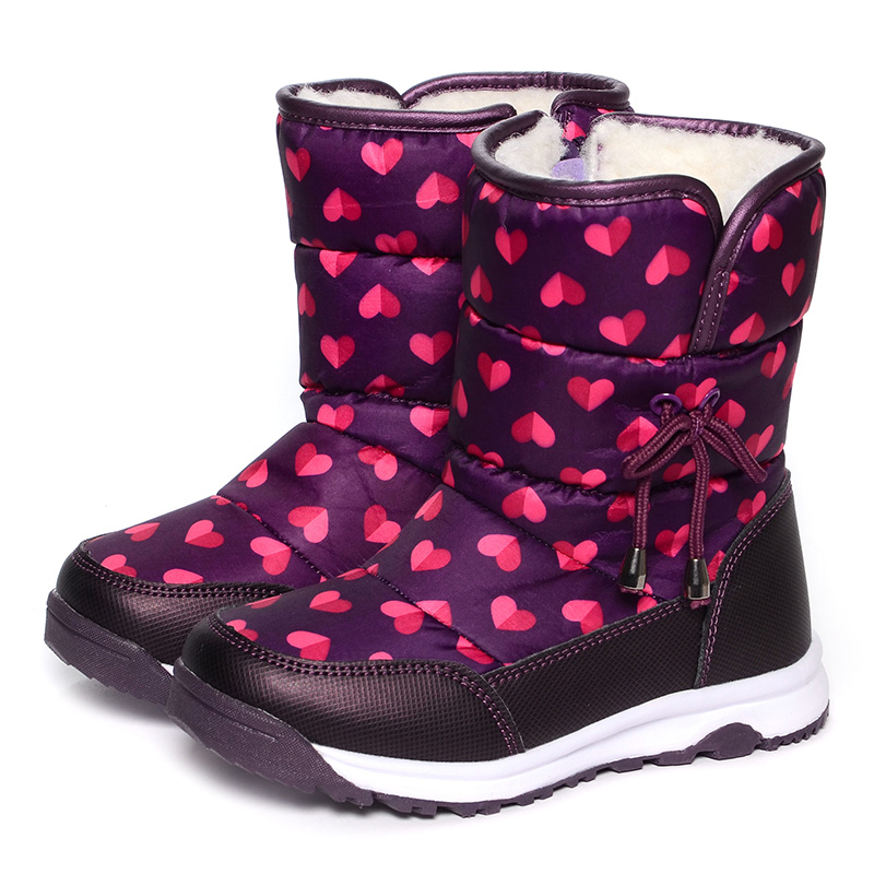 00 FLAMINGO Winter Orthotic Arch Wool Warm Waterproof High Anti-slip Quality Kids Shoes Size 25-30 Snow Boots for Girl 52-NC406 big size 34 43 women over knee high boots sexy thin high heels red bottom shoes round toe platform women winter snow boots