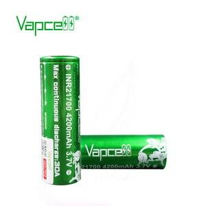 Image 2 - Frete grátis 2pcs Vapcell 21700 bateria 4200mah 30A molicel P42A bateria bateria recarregável para o Cigarro Eletrônico