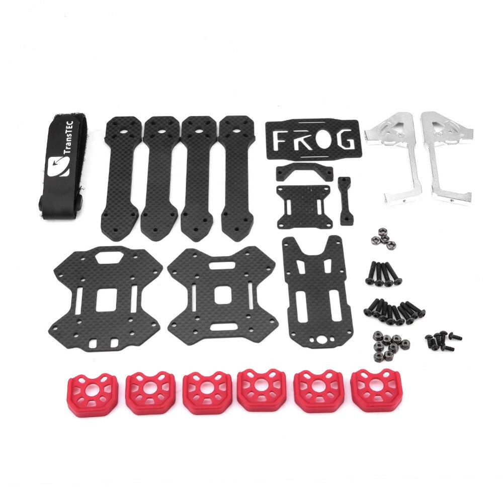 где купить RC Parts High Quality Carbon Fiber Frame Kit For TransTEC FORG FPV Frame 218mm FPV Racing Quadcopter Drone RC Accessories по лучшей цене