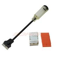 EHDIS Long Handle Razor Scraper With 20pcs Scraper Blades Old Stickers Glue Remove Squeegee Multi Window
