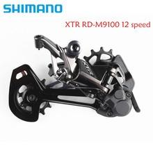 시마노 XTR M9100 M9120 리어 디레일러 섀도우 + GS / SGS 12 스피드 MTB 자전거 자전거 변속기