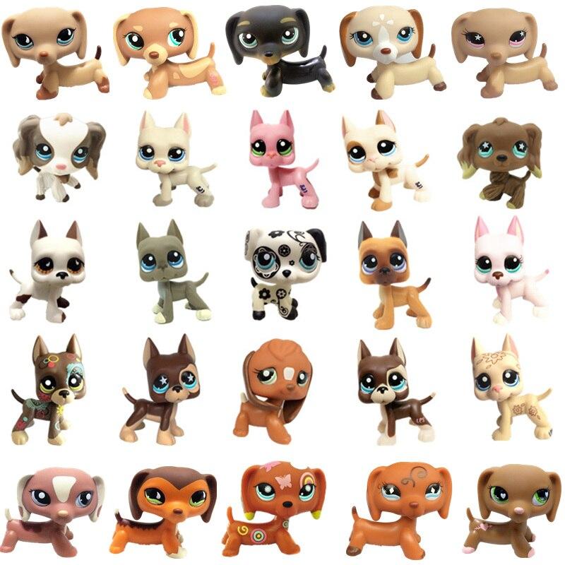 New Pet Shop Lps Toy Action Standing Collection Short Hair 41 Pink Cat Big Dog Garden Dog Dachshund Lps Dog Dachshund Colli