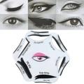 6 En 1 Maquillaje Cosmético de Ojos Delineador de ojos de Gato Tarjetas de Plantilla de Dibujo