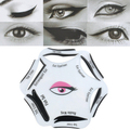 6 In 1 Beauty Makeup Cosmetic Cat's Eyes Eyeliner Drawing Stencil Cards
