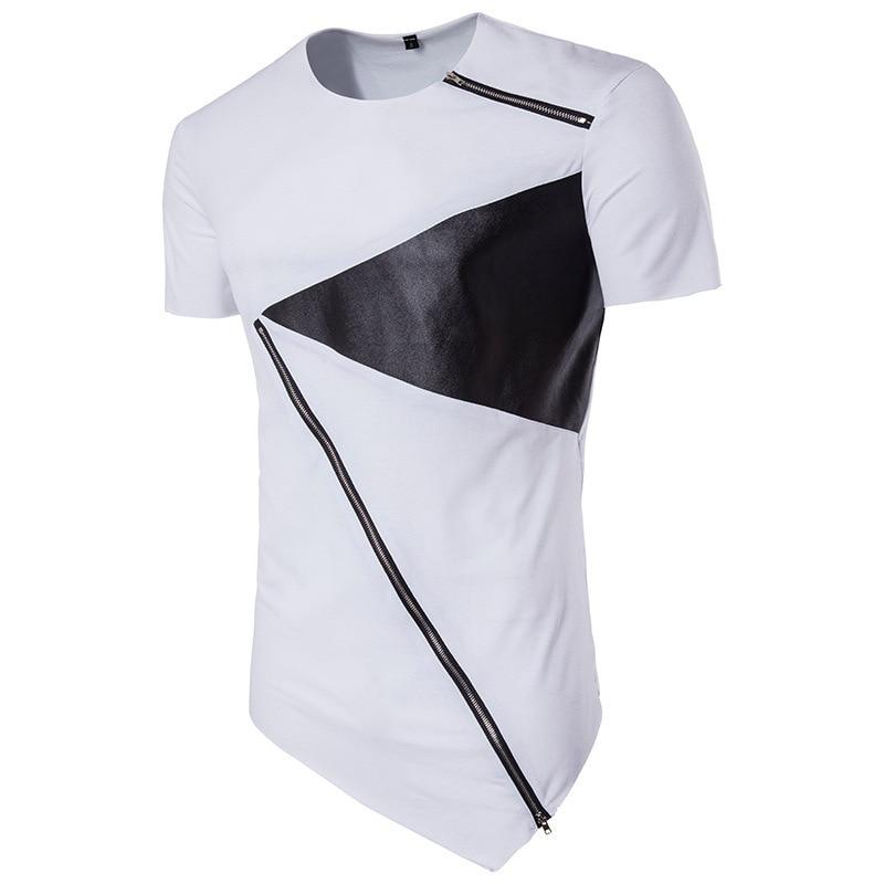 Men brand T-shirt Irregular Cotton Short Sleeve Hedging Slim Fit Blouse vintage fashion tshirts t shirt homme mens tee shirts