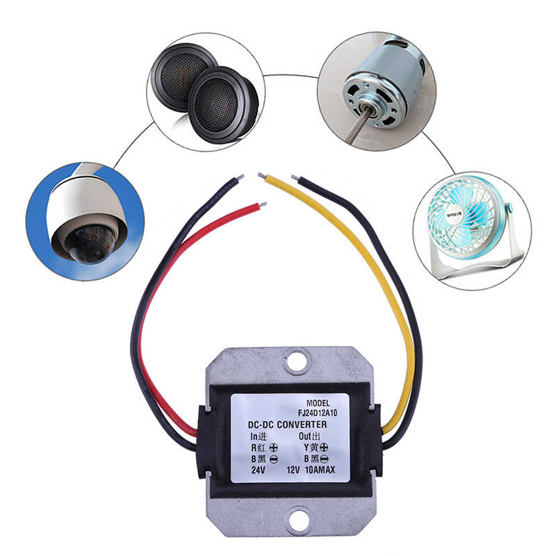 120W Car Power Supply DC Buck Converter DC-DC 24V to 12V 10A Step Down Voltage Regulator Reducer dc dc converter 12v to 24v 5amax 120w for cars non isolated