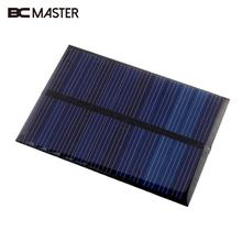 BCMaster 80x55x2.5mm Portable 6V 0.6W Solar Power Panel Polysilicon Solar Panel Bank Home DIY Phone Toy Small Charger